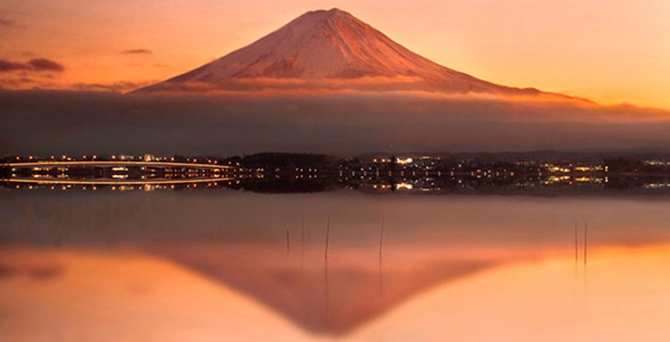 Mount Fuji Japan by Maria Llorens